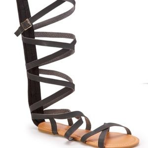 Shoes - Gladiator sandals with zipper on the back